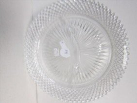 Miss America 3 Part Divided Dish Clear Crystal