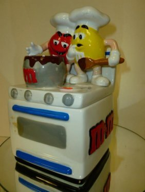 M & M Stove Biscuit/cookie/candy Jar-2001