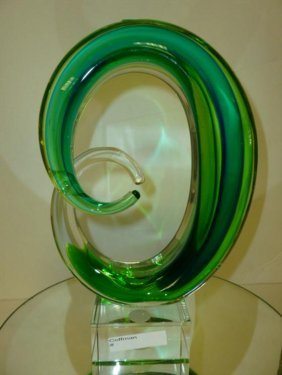 Murano Glass Free Form Sculpture-10 1/2""