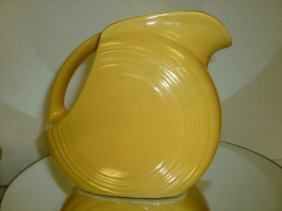 "Fiesta Ware Pitcher In Yellow-5 1/2""h"
