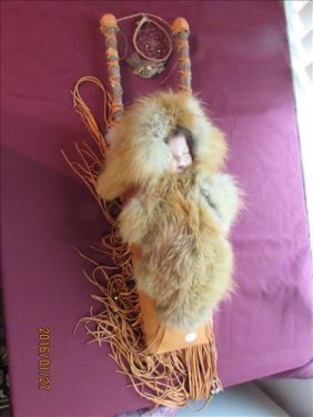 American Indian Hand Made Papoose