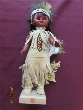 Rubber Indian Princess Doll From Canada