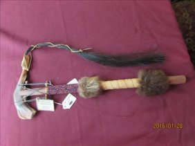 Hand American Indian Deer Jaw Tomahawk By La Ne Ayo