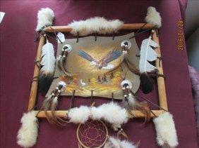 American Indian Artwork Eagle Hunting Rabbit