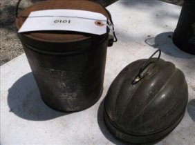 Rusty Old John Squire Lard Bucket & Bread Baking Tin