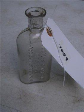 Vintage Clear Glass Bottle-lewis K. Mead Druggist