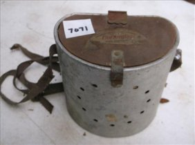 """The Angler Worms & Minnows Bait Container 6 1/2""""h"""