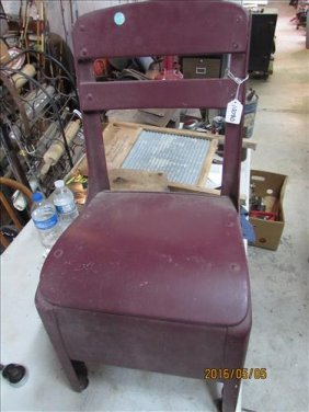 Old Childs Metal Chair 25x 13