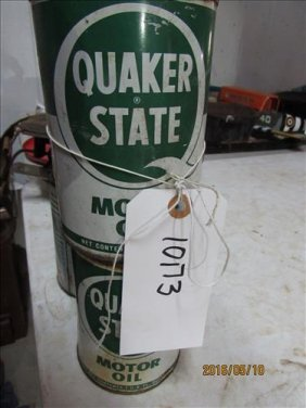 "2 Quaker State Oil Cans ""full"""