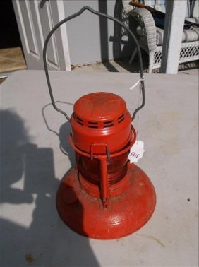 Dietz No. 40 Red Glass Traffic Guard Signal Lantern