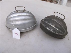 2 Bread Pudding Baking Molds/tins