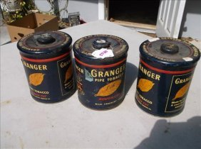 Liggett & Myers-3 Granger Rough Cut Pipe Tobacco Tins