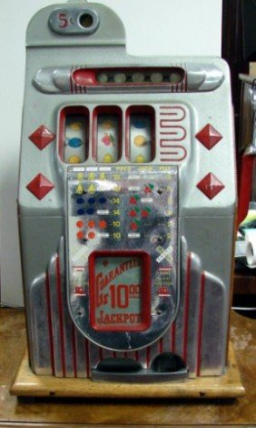 old 5 cent slot machine