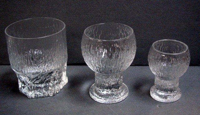 157 iittala ultima thule finnish glassware ice pattern lot 157. Black Bedroom Furniture Sets. Home Design Ideas