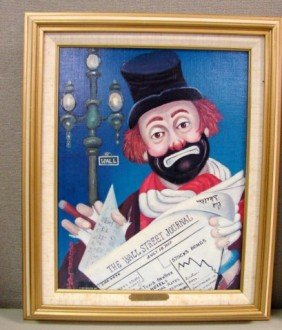 Red Skelton Signed Lithograph The Financier