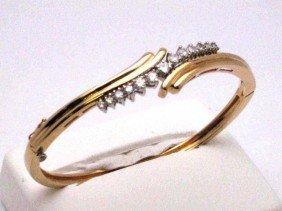 14kyg Diamond Bangle Bracelet .60ctw