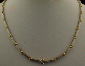 18k 2Tone Diamond Necklace