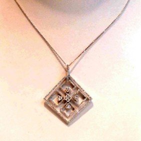 18kwg Diamond Necklace 1.69ctw
