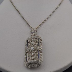 Platinum Vintage  Diamond  Necklace