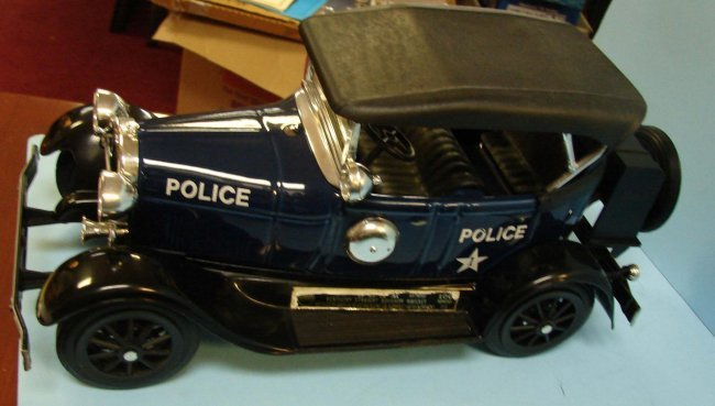 273 4 Jim Beam Vintage Decanters Police Cars Firetrk