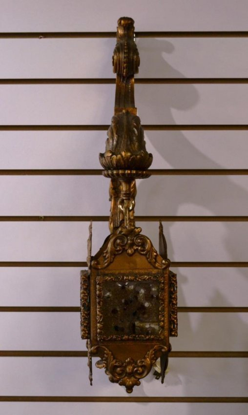 Do Wall Sconces Have To Match Chandelier : Gilded gold chandelier and matching wall sconces : Lot 104A