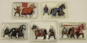Frontline Figures Mounted Knights Lot 5 Figures