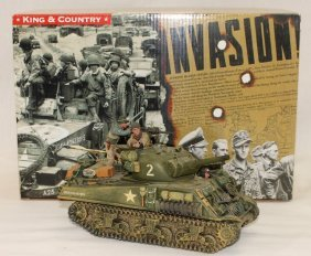 King And Country Wwii Dd45a Us Sherman Tank