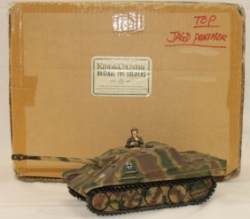 King And Country Wwii Tk03 Panther Tank Rare