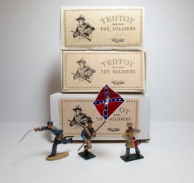 Tedtoy Set 3 Sets: Tt352b Confederate Officer