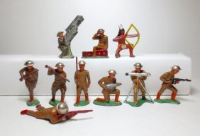 Barclay Set Of 10 Assorted Barclay Soldiers