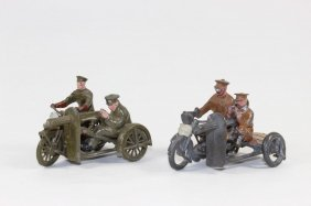 Britains From Sets #199 & #1793 Motorcycle Corps