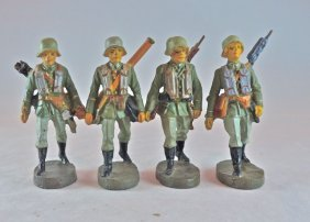 Elastolin German Machine Gun Team Complete