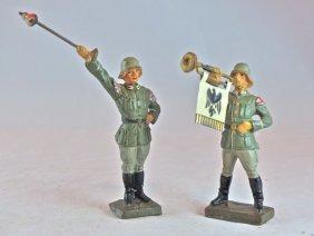 Scarce Lineol German Standing Tambour & Fanfare