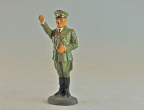 Rare Elastolin Porcelain Hitler In Army Uniform