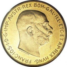 Austria Franz Joseph I Gold 100 Corona 1913,