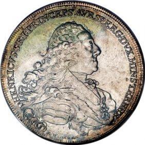 Austria Auersperg. Heinrich Taler 1762, KM4,