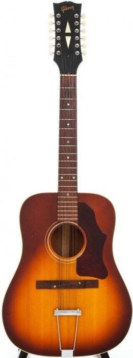 1967 Gibson B45-12 Sunburst Acoustic Guitar, Ser