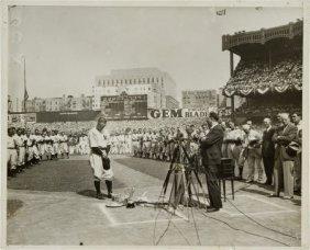 1939 Lou Gehrig Day News Photograph.