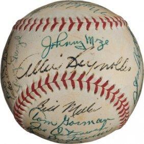 1952 New York Yankees Team Signed Baseball.