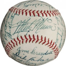 1953 St. Louis Browns Team Signed Baseball With