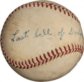 1955 Brooklyn Dodgers Last Baseball Of The Regul