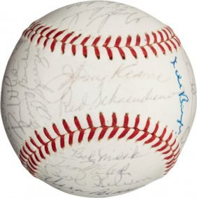 1964 St. Louis Cardinals Team Signed Baseball.
