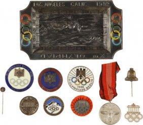 1932 & 1936 Olympics Badges, Pins And Memorabili
