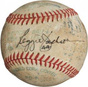 1977 Reggie Jackson Third Home Run Baseball From