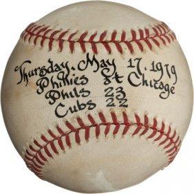 1979 Philadelphia Phillies Beat Chicago Cubs 23-