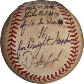 1984 Dwight Gooden Ties Rookie Strike Out Record