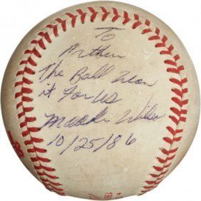 "The Famous ""Buckner Ball"" From The 1986 World Se"