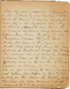 Circa 1920 Handwritten Diary Of Early Profession