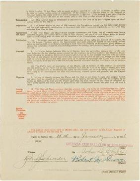 "1931 Robert ""Lefty"" Grove Signed Uniform Player'"