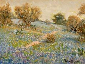 ROLLA TAYLOR (American, 1871-1970) Bluebonnets,